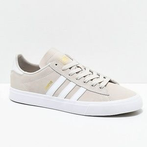 NEW!!! adidas Campus Vulc II Cream & White Shoes